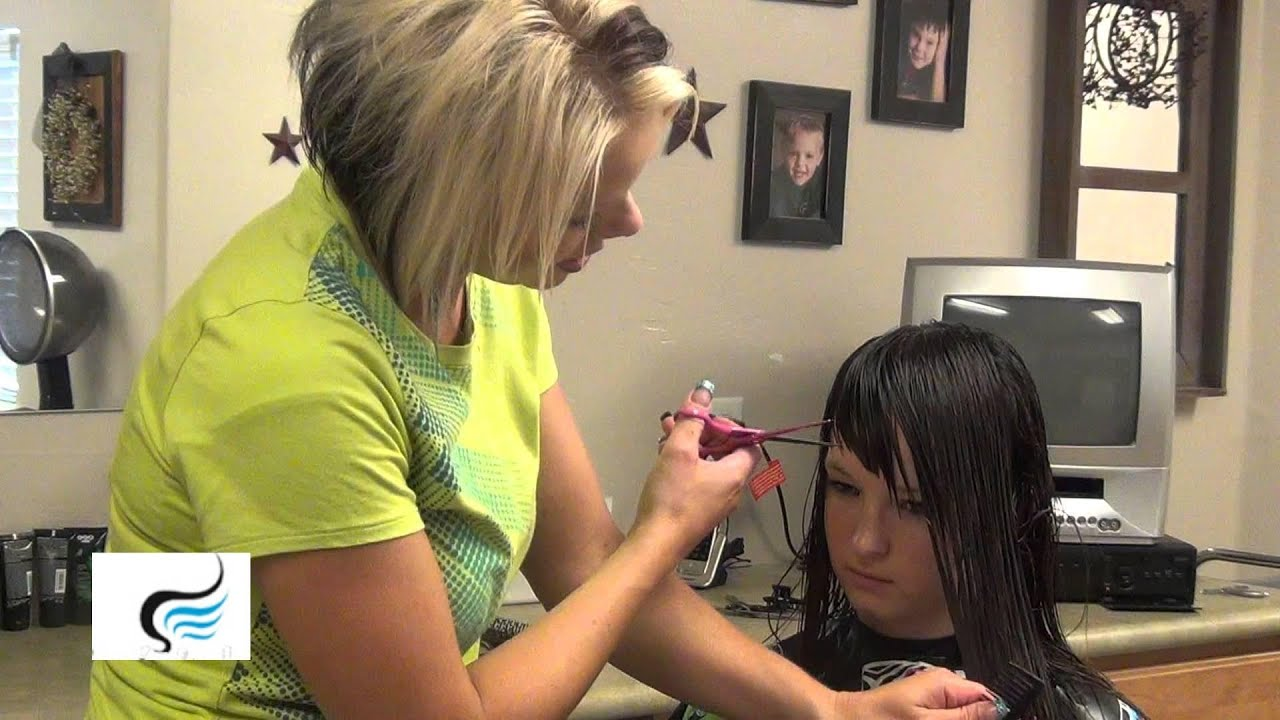Long Sweep Side Bangs Haircuts And Hairstyles Youtube