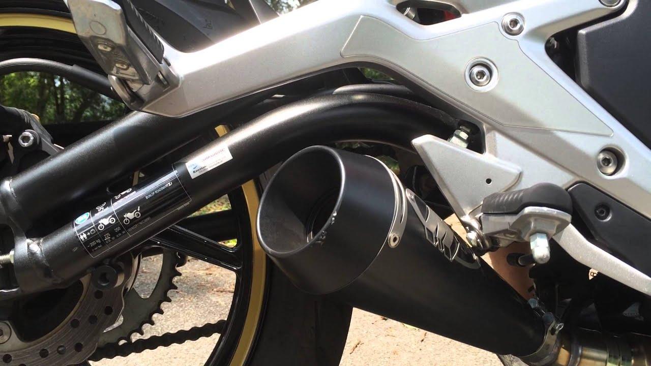 kawasaki er6n m4 gp exhaust hitting the rev limiter v2
