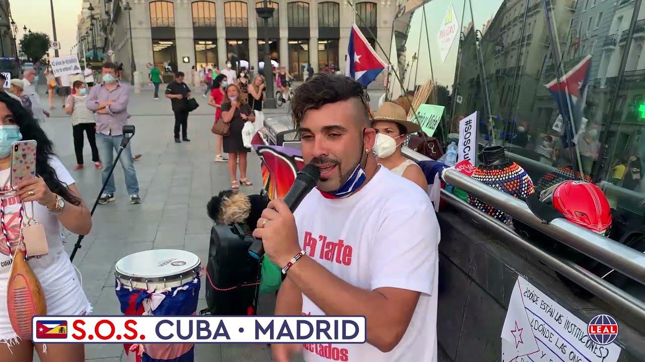 🇪🇸❤️🇨🇺 SOS Cuba Madrid · Si nuestros hermanos están en la calle, nosotros también
