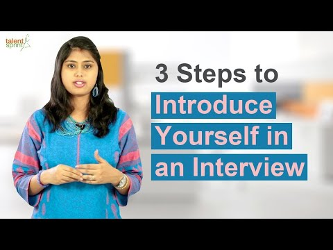 3 Steps to introduce yourself in an Interview || IT Careers