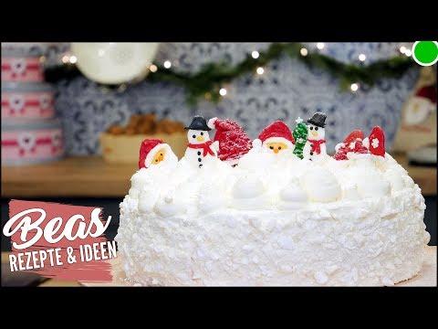 Schneeball Weihnachtstorte | Weiße Torte