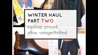 Winter/ Novermber Haul- TOPSHOP, PRIMARK, OFFICE +More Thumbnail