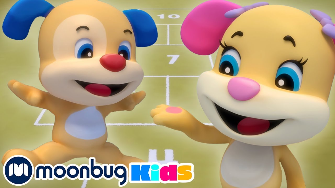 Hopscotch Counting!   Laugh & Learn with Fisher Price   ABCs & 123s Educational Cartoons for Kids
