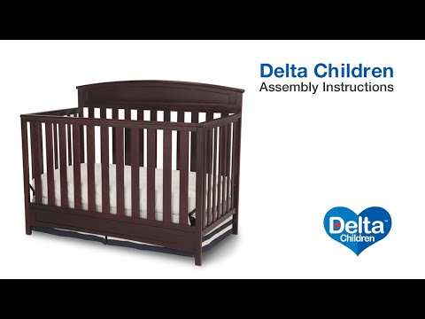 Delta Children Sutton 4-in-1 Crib Assembly Video