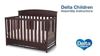 Delta Children Sutton 4-in-1 Crib Assembly Video