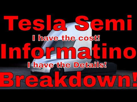 Tesla Semi COST (From Insiders!) & Other Unknown Information! Kman Digging for Info