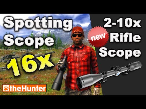 theHunter Hunting Game - Spotting Scope 16x AND 2-10x Rifle Scope
