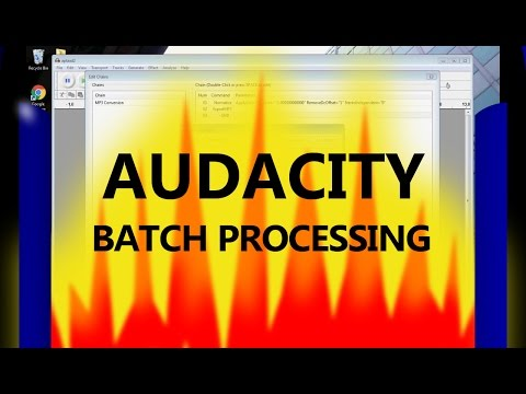 Audacity Batch Processing | Working With Chains