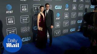Velvet vixen! Emmy Rossum and Sam Esmail at Critics Choice
