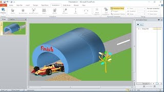 PowerPoint training |How to Create a Custom Animation of a Car Through a Tunnel in PowerPoint