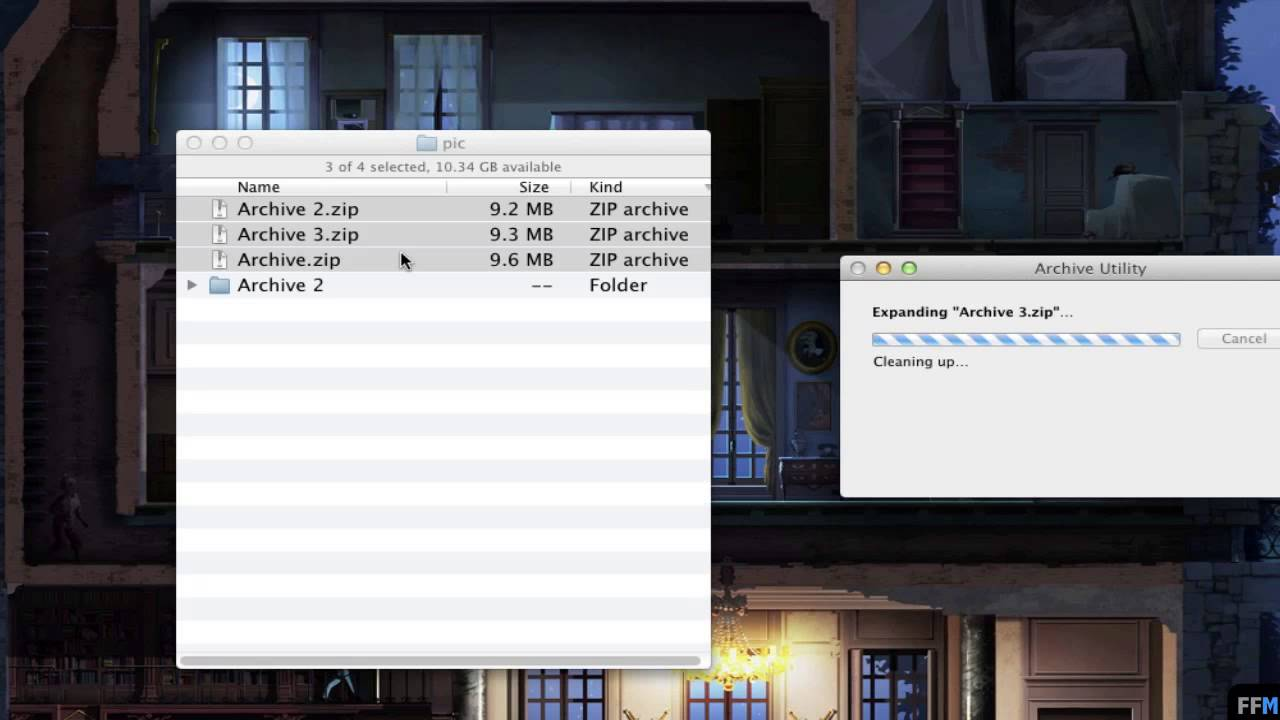 mac zip multiple folders