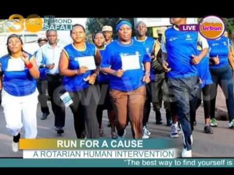RUNNING FOR A CAUSE-  ROTARY IN UGANDA 25 08 16
