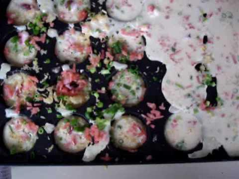 イワタニ たこ焼き器 炎たこ 【たこ焼きの作り方 動画】 how to make takoyaki