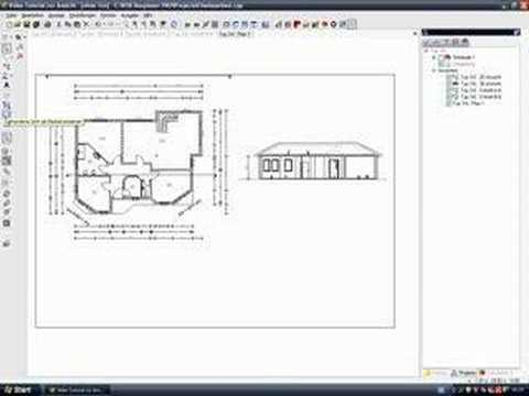 cad software architektur video tutorial plan planzusammenstellung youtube. Black Bedroom Furniture Sets. Home Design Ideas