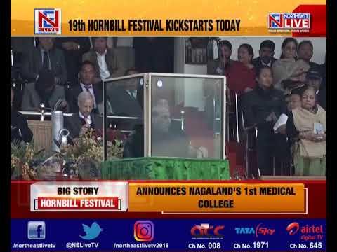 Rajnath Singh inaugurates 19th Hornbill Festival