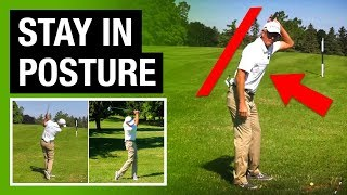 How To Stay In Posture And Hit It Pure Every Time Using This Simple Drill