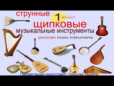1 Струнные щипковые музыкальные инструменты