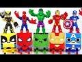 Marvel Avengers Hulk Spider Man Iron Man Gacha Cube Combine Defeat Thanos Dinosaur DuDuPopTOY mp3