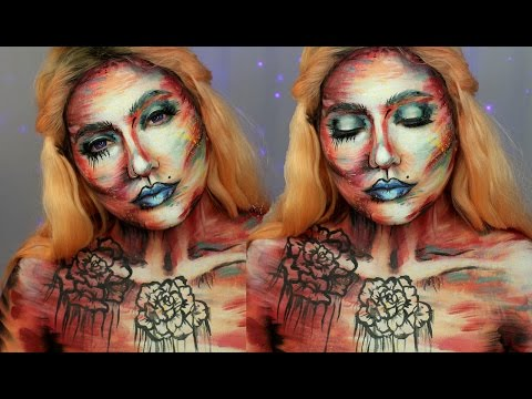 Abstract Watercolor Makeup / Body Painting Tutorial | Jordan Hanz