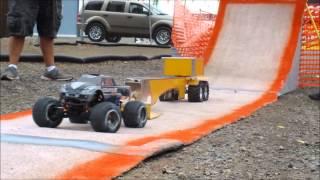 rc truck pull & high jump