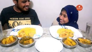 Eating Show With Sound | Sing Mach | Hilsa Fish | Khicuri | Eating Show | Bachelor Foodie