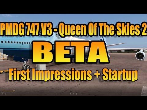 [FSX] PMDG 747 V3 BETA - STARTUP