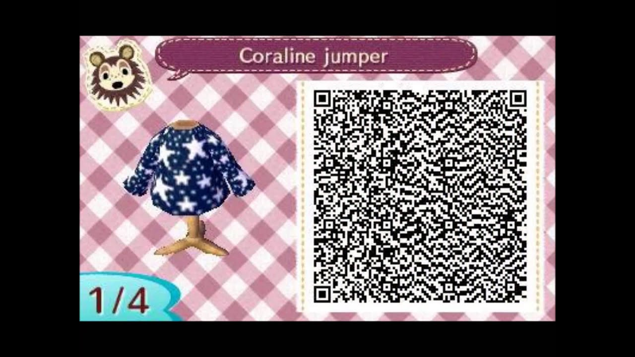 Acnl Girl Clothes Qr Codes Youtube