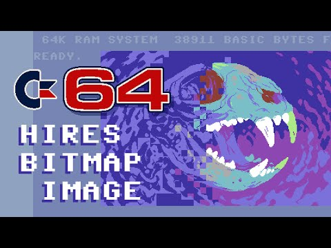 Commodore 64 HiRes bitmap: workflow and image conversion