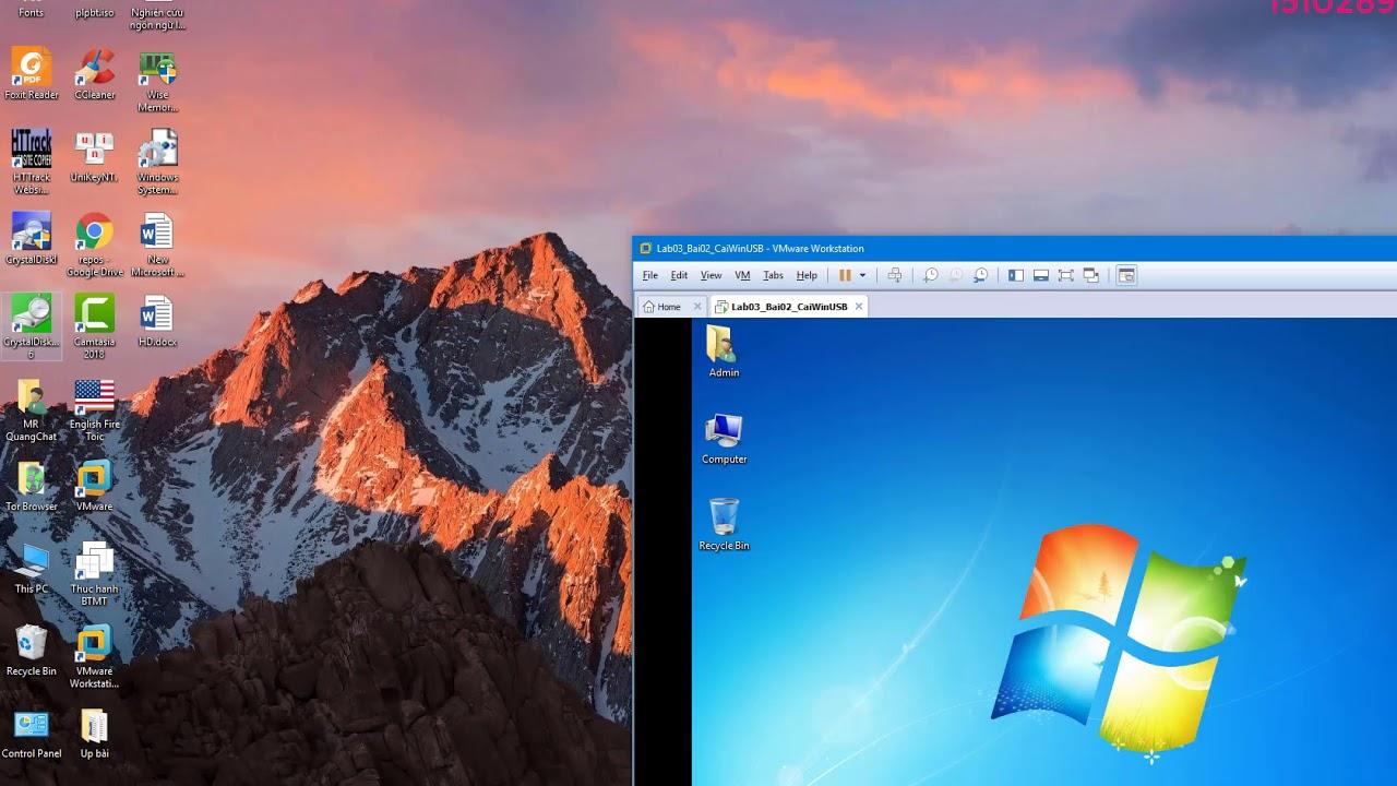 Lab 3.3 : cài đặt hệ điều hành windows 7 từ ổ cứng