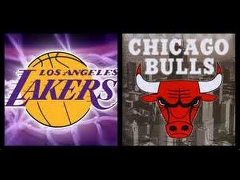 Chicago Bulls Vs. L.A. Lakers/ United Center.