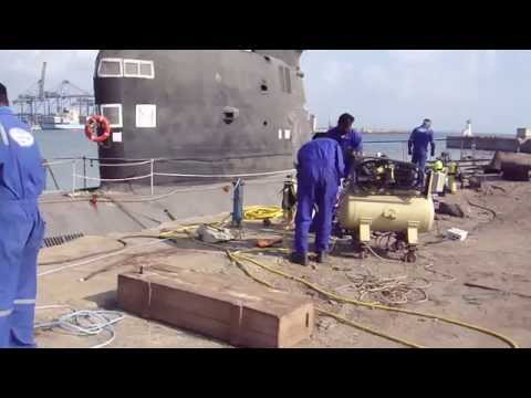 Frogman Diving Operation at Ex INS Vagli Indian Submarine in Chennai