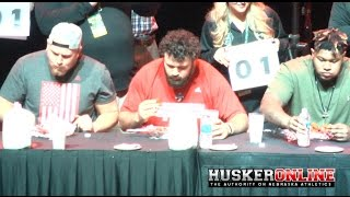 Hattie B's Hot Chicken eating contest. NU vs. UT Music City Bowl 2016