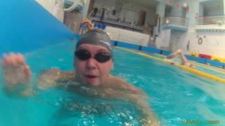 Go Pro under water.Видеокамера под водой.Бассейн МЭИ.