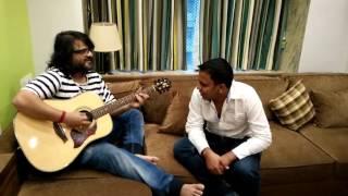 Pritam and me singing Janam Janam thanks to migme