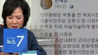 """손혜원 '투기 의혹' 부인에…박지원 """"미꾸라지 한 마리가 물 흐려"""""""