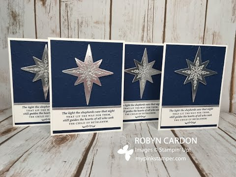 How to Make Stampin' Up! Christmas Cards with Star of Light Stamp Set - Episode 513