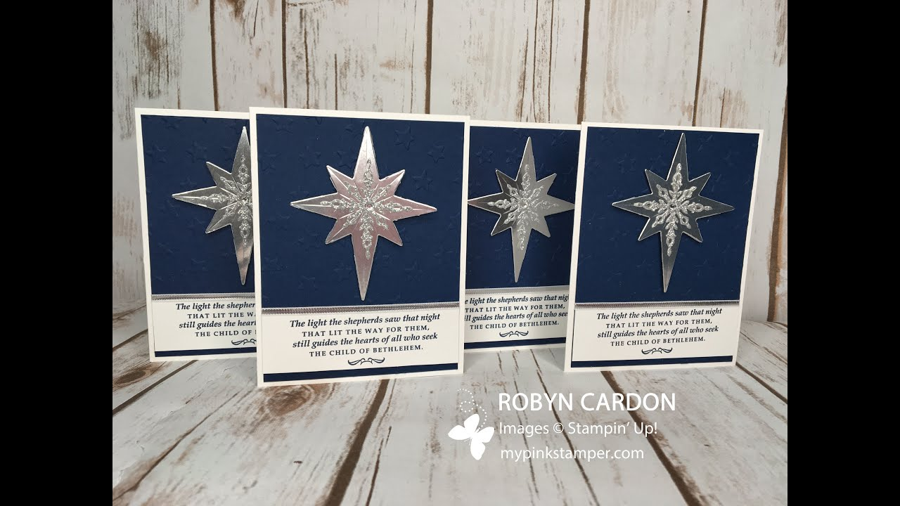 How To Make Stampin Up Christmas Cards With Star Of