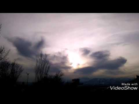 """3-7-2018 ALMOST sunset.. Ships Beings and a very different """"sun"""" 😵"""