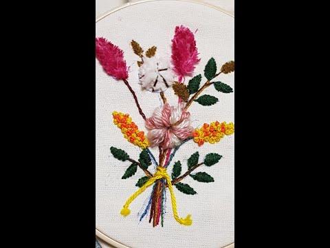 Stumpwork: Cotton Flower Embroidery (2 Techniques)