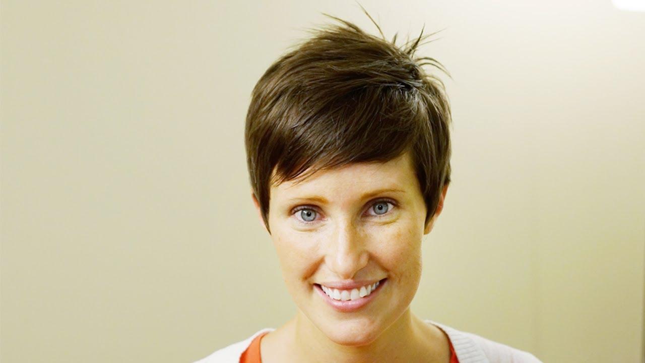women's short taper cut tutorial // how to cut women's hair tutorial