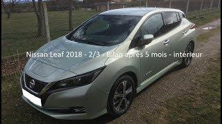 Nissan Leaf 2018 - 2/3 - bilan après 5 mois - intérieur