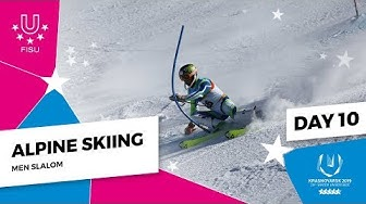 Highlights day 10 I Alpine skiing Slalom Men| Winter Universiade 2019