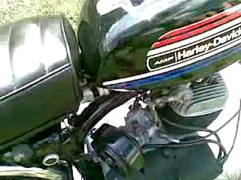 hqdefault 1974 harley davidson amf aermacchi x90 minibike youtube  at bayanpartner.co