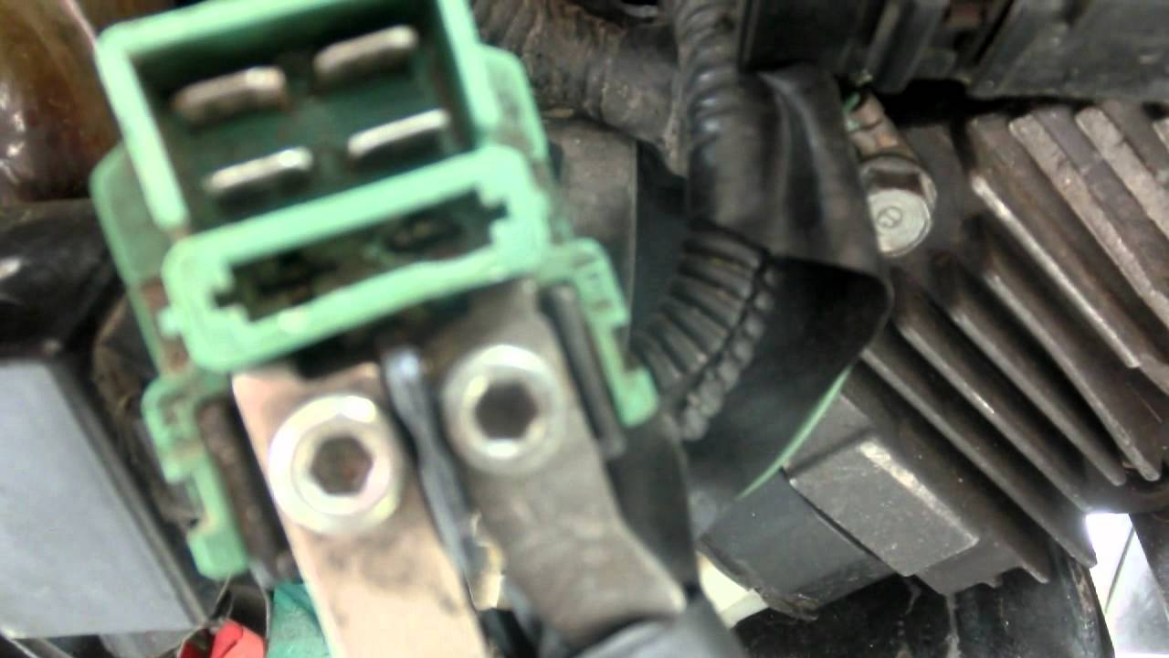 Honda Vtx Wiring Diagram How To Replace A Main Starter Relay On A Cb400 Youtube