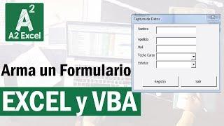 ¡Como armar Formularios Fácil en Excel! ¡Con y sin Programación!