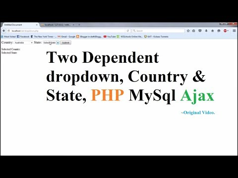 Two Dependent Dropdown, PHP AJAX MySql, Country & State  - Part 1
