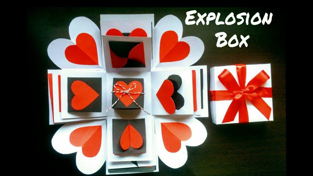 Explosion Box | DIY | Valentine\u0027s Day Surprise Box | Explosion Box ...