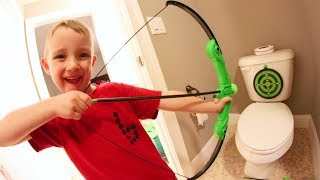 FATHER SON HOUSE BOW & ARROW!