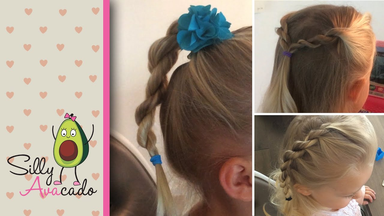 Twisty Braids  3 Easy Backtoschool Toddler Girls Hairstyles! How To Rope  Braid Half Up Half Down  Youtube