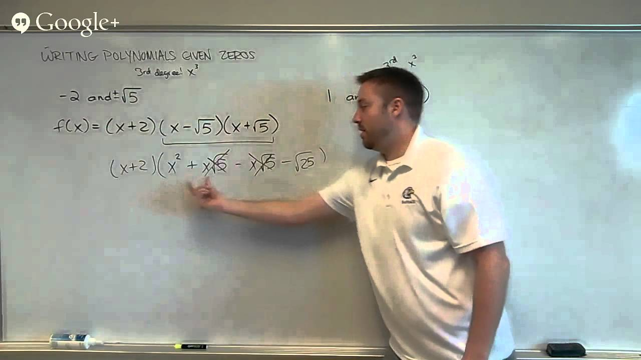 how to find polynomials given root
